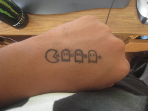 Pin Funny Tattoo Pacman