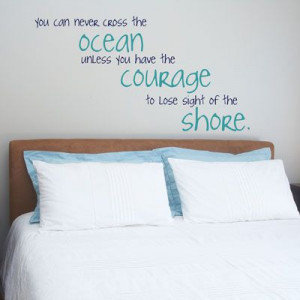 Beach themed wall quote