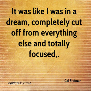 Gal Fridman Quotes