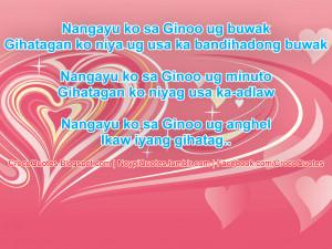 Nangayu ko sa Ginoo ug anghel ug IKAW ang iyang gi hatag