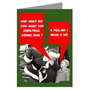 Funny sayings Santa Claus Greeting Cards