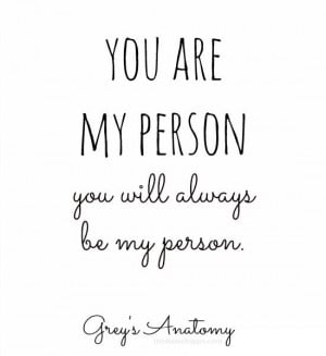 You're my person. Grey's Anatomy. Cristina and Meredith's friendship ...