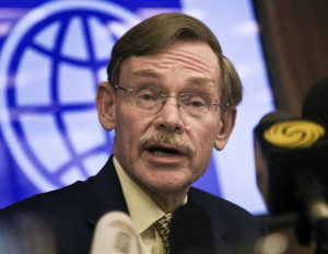file photo of World Bank President, Mr. Robert Zoellick