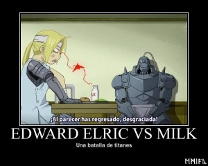 Edward Elric vs Milk by EmiyaForjadeHierro