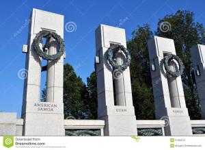 An image of the World War 2 Memorial in Washington DC.