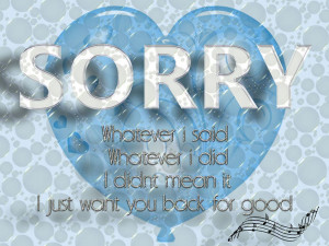 Sorry For Love Heart Quotes