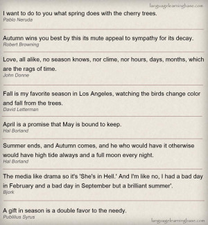 Famous quotes about Seasons .