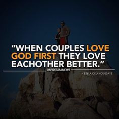 ... God together; it's Biblical and successful. God knows what's best for