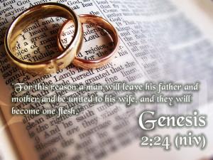 One Love, One Heart: Genesis 2:24 Papel de Parede Imagem