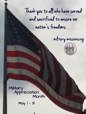Home » Military Families May is Military Appreciation Month
