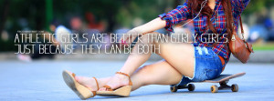 Athletic Girly Girls Quote Picture