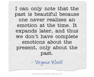Virginia Woolf - on emotions