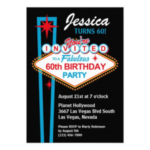 Las Vegas 60th Birthday Party Invitation