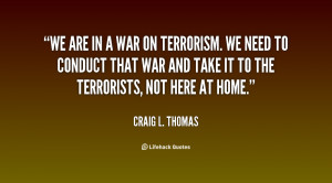 Quotes About War On Terrorism