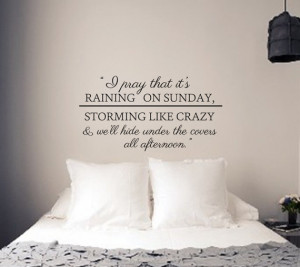 Raining on Sunday Wall Decal - Keith Urban Song Lyrics