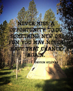 Country western life opportunity quote