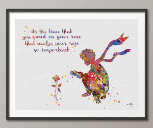 The Little Prince and Rose Quote Le Petit Prince inspiration ...