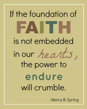 Whether your faith is in Christ, or in another power- strengthen it ...