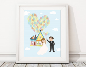 Up Movie Quotes Adventure Up caricatures - personalized