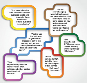 ... are some of the things customers continue to say about USA Mobility