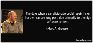 The days when a car aficionado could repair his or her own car are ...
