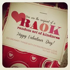 acts of kindness great idea for valentines day more quote random acts ...