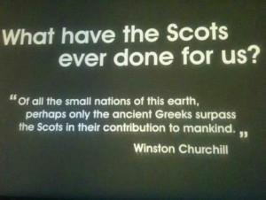 Scottish and proud !