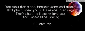 Remember Ill Always Love You Quotes ~ Tinkerbell You Know That Place ...