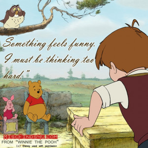 Winnie the Pooh Movie Quotes - Thinking Too Hard