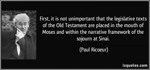 texts of the Old Testament are placed in the mouth of Moses ...