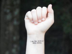 Temporary Tattoo - Quote Tattoo - Inspirational Tattoo - I Am The Hero ...