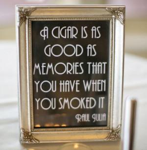 Printable Cigar Bar Quote Sign - Wedding, Reception, Roaring 20s ...