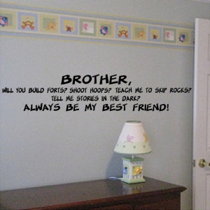 Brother To Brother Quotes Brother quotes wall words wall