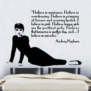 Audrey Hepburn Quote Design 2 Decal Wall Sticker (CFQ2)