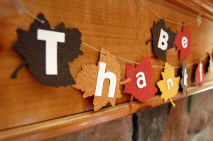 thanksgiving banner make a festive banner for your mantle to ...