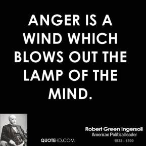 Anger is a wind which blows out the lamp of the mind.