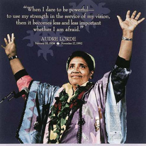 Quotes from the work of Audre Lorde