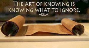 Rumi Sayings - The Art of Knowing