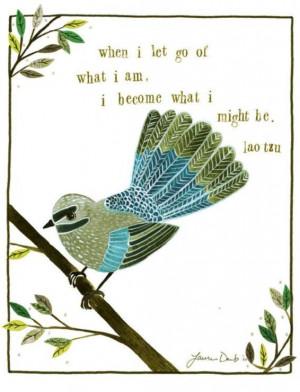 Bird Print Inspirational Quote Lao Tzu by lauradaub on Etsy