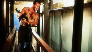 Bruce Willis, the epitome of 1980s heterosexual masculinity, in 1988's ...