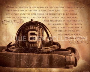 FIREMAN Keepsake Inspirational Art 8x10 Fine Art Print Family and Job ...
