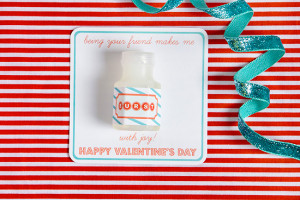Lastly, take a peek at these sweet Bubble Valentines .