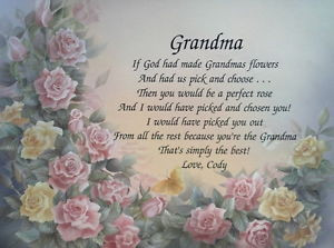 Granddaughter Poems to Grandmother http://www.ebay.com/itm/GRANDMA ...
