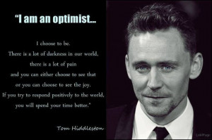 His amazing outlook on life is another reason why I love him. This is ...