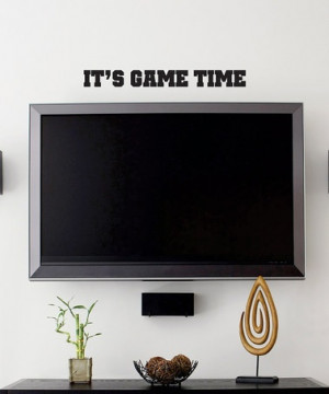 Take a look at this Belvedere Black 'It's Game Time' Wall Quote by ...