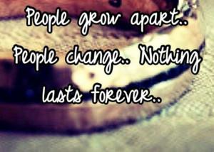 Grow apart