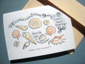 Seashell Card. Beach Lover Card. Shell Collecting by PattieJansen, $4 ...