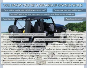 Funny Quotes You know you're a jeep wrangler owner when: funny sayings ...