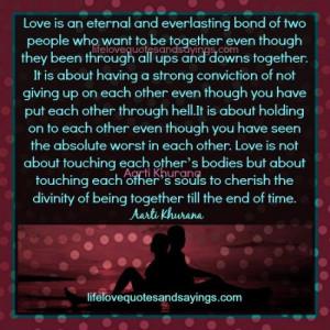 Love Is An Eternal Bond..