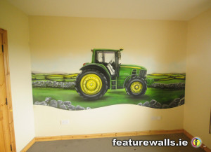 John Deere Tractor Mural